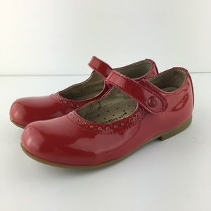 Footmates Emma Girls Red Patent Leather Size 11.5